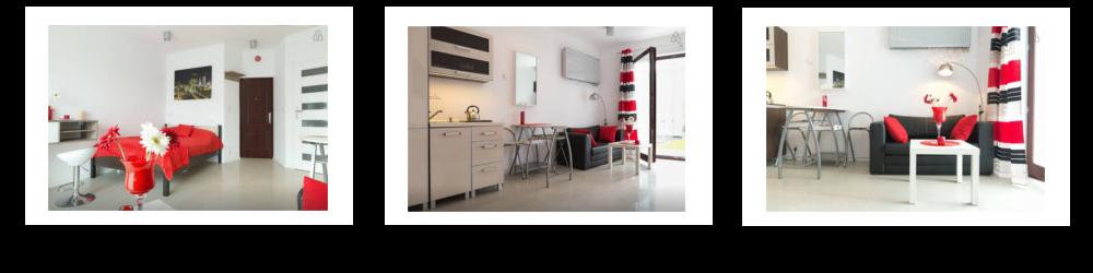 czerwony apartament